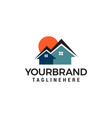 sun homes logo real estate logo designs template vector image vector image