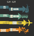Travel infographics options banner with arrows vector image vector image