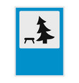 tree by the bench icon flat style vector image vector image