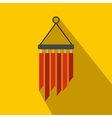 Wind chimes icon flat style vector image vector image