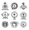 winner logos vector image vector image