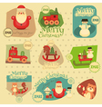 Xmas Stickers Set vector image