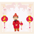 Year of Horse graphic design vector image vector image