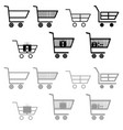 cart for shopping black and grey color vector image
