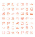 49 learning icons vector image vector image