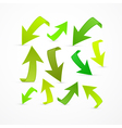 Abstract Green Arrows Set vector image vector image