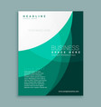 abstract green company magazine cover page vector image vector image