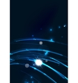 Abstract wave color glowing lines in dark space