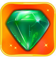 App game icon emerald vector image vector image