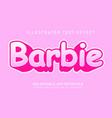 Barbie text effect