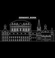 bonn silhouette skyline germany - bonn vector image vector image