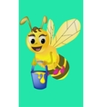 Cartoon bee carries honey vector image