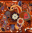 colorful paisley seamless pattern original vector image vector image