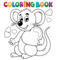 coloring book valentine topic 1 vector image vector image