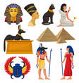 cultural elements of ancient egypt pharaoh and vector image vector image