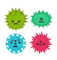 cute angry evil bad fly germ virus vector image vector image