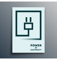 electric plug typography minimal design for poster vector image