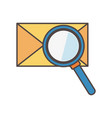 email message analysis social media icon vector image vector image