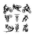 extreme motorbike set vector image vector image