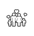 family icon design template vector image vector image