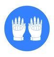 Fingerless gloves icon in outline style isolated vector image vector image
