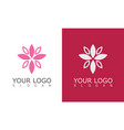 flower beauty logo vector image vector image