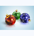 graphic realistic shiny new year christmas balls vector image vector image