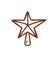 Hand Drawn Christmas Star vector image vector image