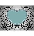 Heart shape tattoo art pattern background vector image vector image