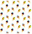 ice cream pattern seamless pattern vector image vector image