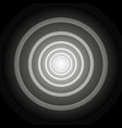 light at the end of a round striped black and vector image