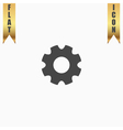 machine gear icon vector image