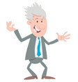 manager or businessman cartoon character vector image vector image