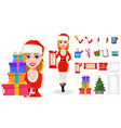 merry christmas greeting card poster or banner vector image