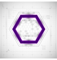 Modern Hexagon background vector image