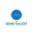 music wave logo design vector image