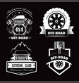 off-road 4x4 extreme car club logo templates vector image vector image