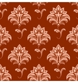 Oriental floral seamless pattern on titian vector image