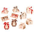 packing for a gift of chocolates on valentines vector image
