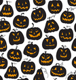 pattern with pumpkins Halloween holiday seamless vector image vector image