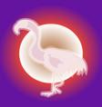 pink flamingo neon vector image vector image