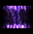 purple crystal line dark abstract background vector image vector image