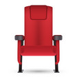 realistic red cinema movie theater seat isolated vector image