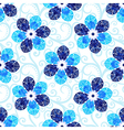 Repeating white floral pattern vector image vector image