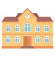 school educational institution exterior building vector image vector image
