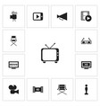 set of 13 editable filming icons includes symbols vector image