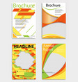 set of abstract brochure template flyer layout vector image vector image