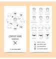 Set of flyer brochure for plastic surgery clinic vector image vector image