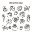 sketch outline present boxes set vector image vector image
