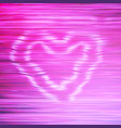 smoke pink heart vector image vector image